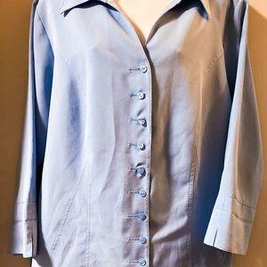 Dress Barn button up light blue blouse size 18/20W